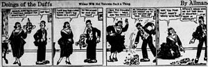 Walter R. Allman - The Doings of the Duffs cartoon, sample from 1917.