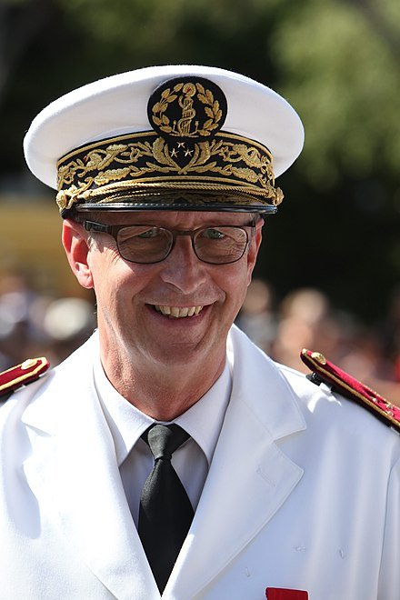 Surgeon general inspector Dominique Vallet, head of the Laveran military medical school, at the ceremonies for Bastille Day in Marseille, 2012 Dominique Vallet-IMG 5734.JPG