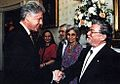 Don L. Anderson receives the National Medal of Science from President Bill Clinton.jpg