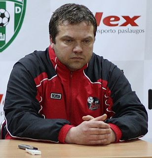 Donatas Vencevičius Lithuanian footballer and manager