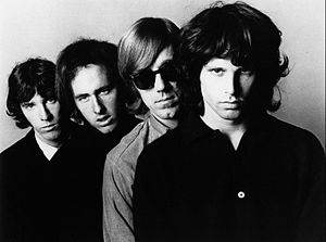 Jim Morrison - Promotional photo of the Doors in late 1966