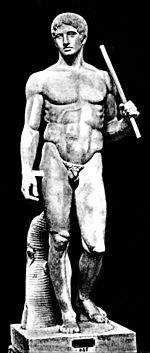 The Doryphoros of Polyclitus, an early example of classical contrapposto.
