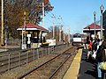 Downeaster trainset at Haverhill station, November 2016.JPG