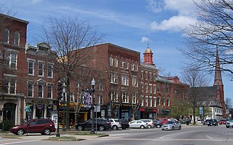 Keene, New Hampshire - Central Square in downtown Keene