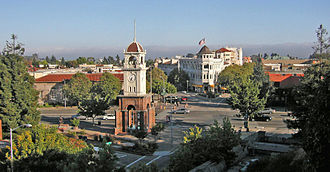 "Santa Cruz, California - The ""Town Clock"" tower at the head of Pacific Avenue"