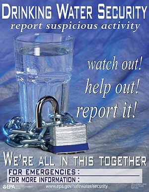 A poster for drinking water security from the EPA