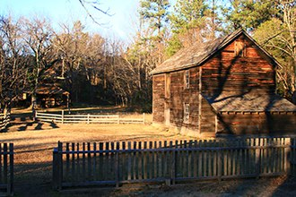 Duke Homestead and Tobacco Factory - Tobacco Barns at Duke Homestead