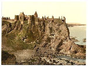 Dunluce Castle - The castle in the last decade of the 19th century