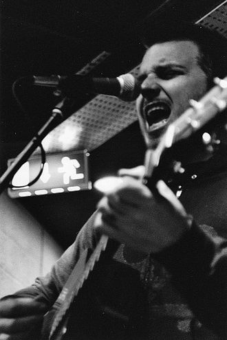 Thrice - Dustin Kensrue performing at a Fopp instore signing in Southampton, UK.