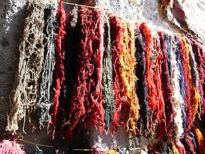 Animal fiber - Dyed wool