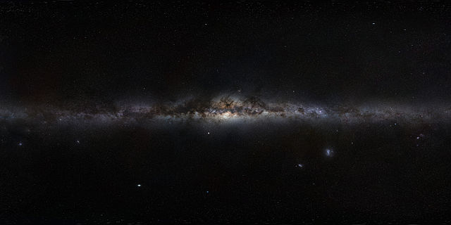 Milky Way as seen in Earth's Sky, produced by European Southern Observatory (ESO).