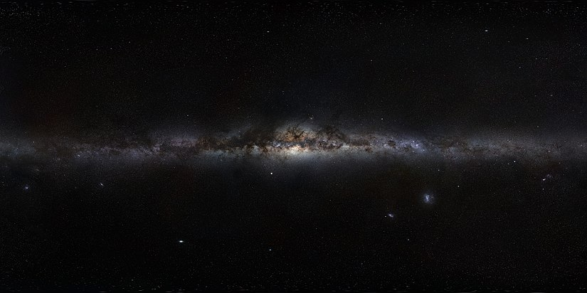 save off e4a2a 1a1ac 360-degree panorama view of the Milky Way (an assembled mosaic of  photographs) by ESO. The galactic centre is in the middle of the view, with  galactic north ...