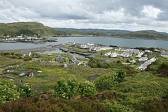 Easdale - Easdale harbour with Ellenabeich and Seil beyond
