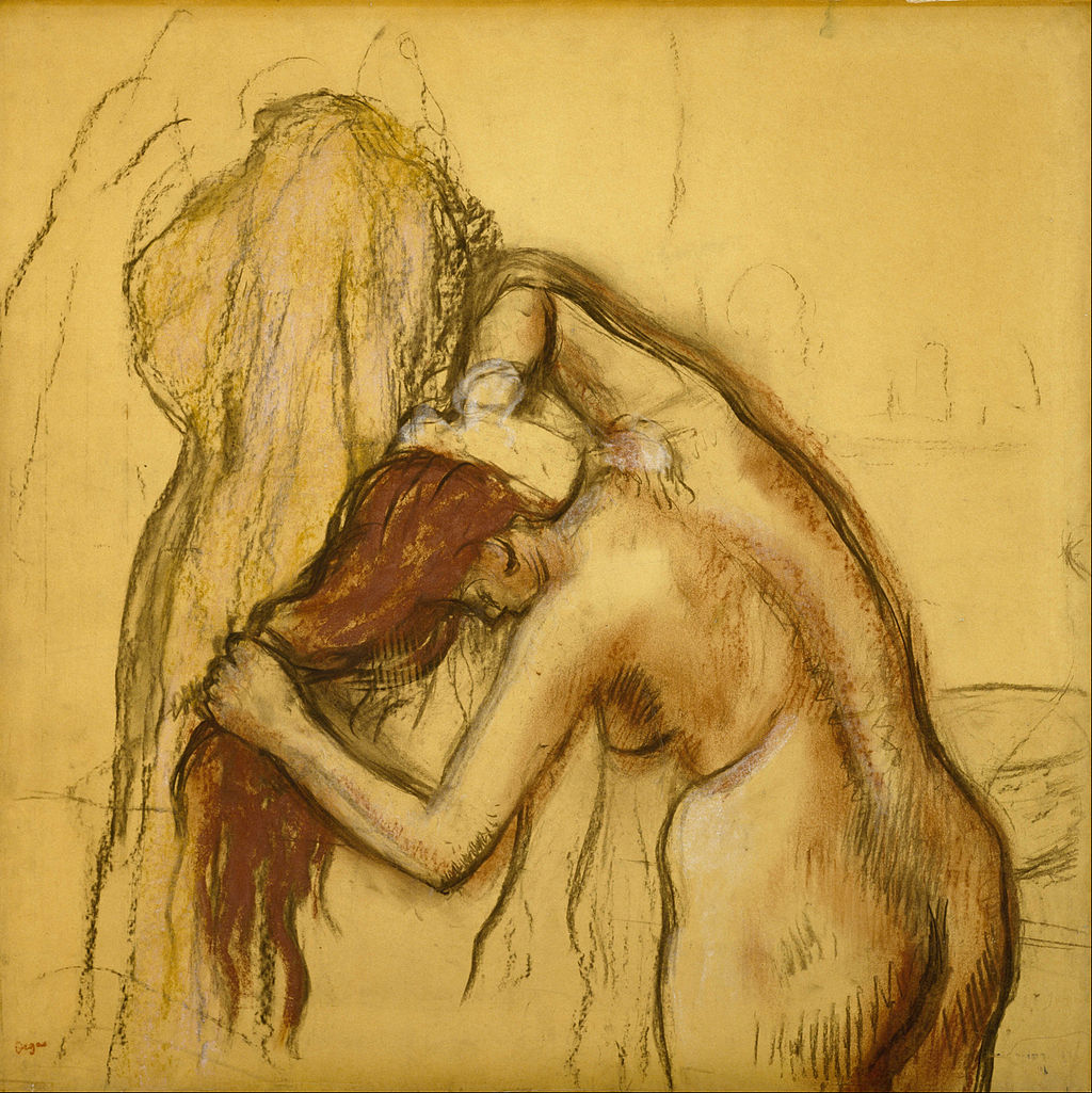 Edgar Degas - Woman Drying Herself - Google Art Project