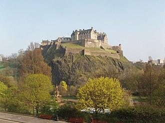 Eidyn - Edinburgh Castle on Castle Rock, the most likely location of Din Eidyn
