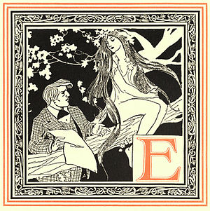 Oliver Herford - Edison and Eve, from An Alphabet of Celebrities by Oliver Herford