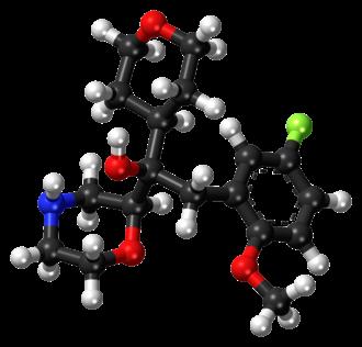 Edivoxetine - Image: Edivoxetine ball and stick model