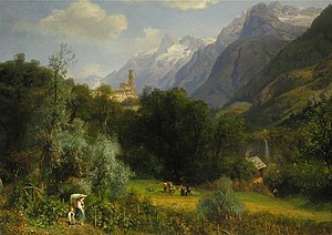 South Tyrol wine - Wine harvest in south Tyrol, painting by Eduard Schönfeld (1839–1885)