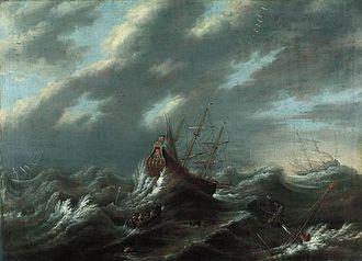 Andries van Eertvelt - Storm at sea, before 1630