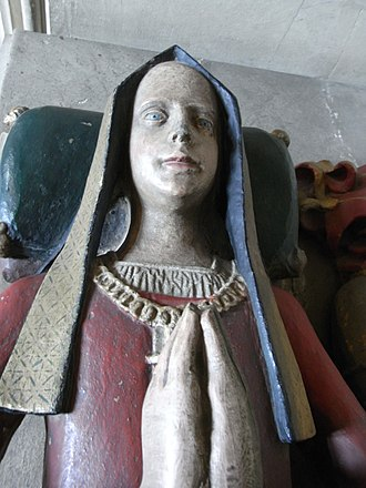 John Howard, 1st Duke of Norfolk - Effigy of Lady Anne Gorges, Gorges tomb, Wraxall Church