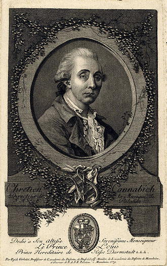 Christian Cannabich - Christian Cannabich - copper engraving by Egid Verhelst 1779