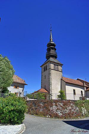 Ballaison - The church of Saint-Etienne, in Ballaison