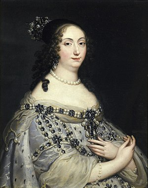 Marie Louise Gonzaga - Portrait by Justus van Egmont. Among the Queen's jewels was a Polish Eagle set with small diamonds. After the Queen's death her jewels were inherited by her sister Anne de Gonzague de Clèves.