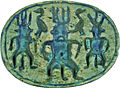 Egyptian - Scarab with Bes and Geese - Walters 4243 - Bottom.jpg