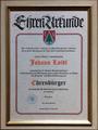 Ehrenbürgerurkunde Johann Loidl 2006.png