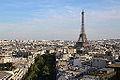 Eiffel Tower from Arc de Triomphe de l'Étoile, 21 June 2014 002.jpg