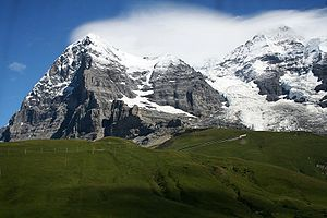 Eiger - The Eiger and Mönch from near Kleine Scheidegg