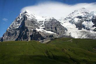 Eiger - The Eiger and Mönch from Kleine Scheidegg