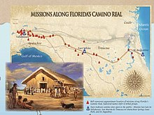 Map Northern Florida.El Camino Real Florida Wikipedia