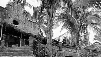 John Huston - John Huston's Night of the Iguana set on Mismaloya Beach, in Puerto Vallarta, Mexico