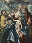 El Greco - The Holy Family with Mary Magdalen - 1926.247 - Cleveland Museum of Art.tiff
