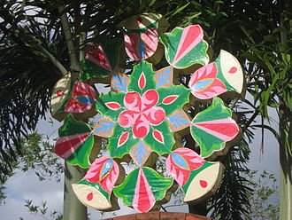 Parol - This coloured foil and plastic parol is one of the earliest electronically-programmed designs circa 1980s