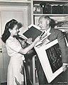 Elena Verdugo and Cecil B. DeMille, 1944.jpg