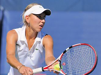 Elena Vesnina - Elena Vesnina at the 2010 US Open
