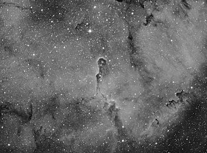 Elephant's Trunk nebula - Elephant Trunk Nebula captured in Hydrogen alpha using a 102mm telescope