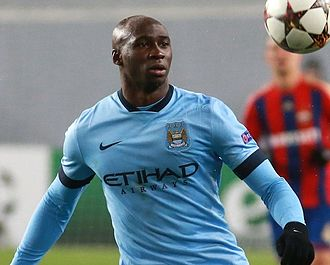Eliaquim Mangala - Mangala playing for Manchester City at CSKA Moscow in October 2014
