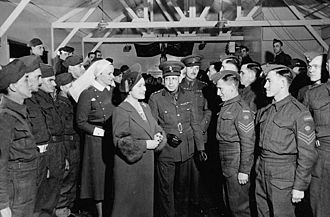 Royal Canadian Army Medical Corps - Royal visit to RCAMC, Bramshott, England, 17 March 1941