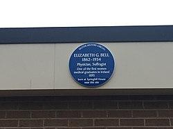 Elizabeth bell blue plaque