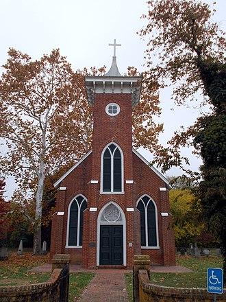 Emmanuel Episcopal Church (Port Conway, Virginia) - Image: Emmanuel Episcopal Church Front Shot Port Conway, Virginia Oct 12