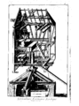 Cross section of a post mill