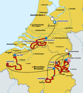 Routekaart   Eneco Tour 2011