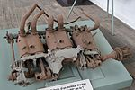Engine remains from WW1 German 'Taube' (34791488796).jpg