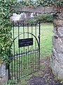 Entrance gate to the Quaker's Cemetery. - geograph.org.uk - 313915.jpg
