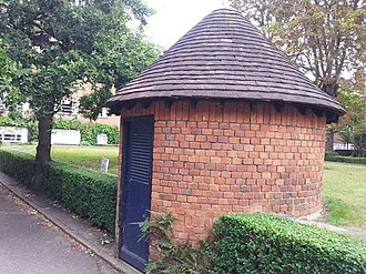 East Sheen - Entrance to air-raid shelter at St Leonard's Court