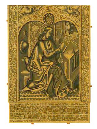 Filippo Buonaccorsi - Bronze epitaph of Buonaccorsi, Dominican Church, Kraków.