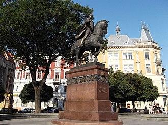 Daniel of Galicia - Monument of King Danylo in L'viv.